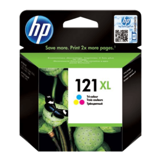 HP 121XL High Yield Tri-color Original Ink Cartridge (CC644HE)