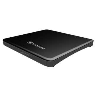 Transcend Extra Slim Portable DVD Writer TS8XDVDS-K, USB Powered - Black Side