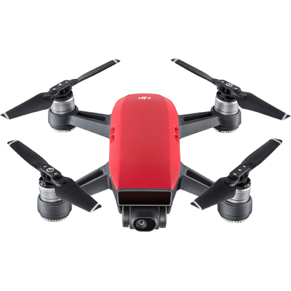 DJI SPARK Red Drone Camera Front