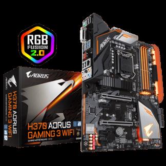 GIGABYTE AORUS H370 GAMING 3 WIFI – H370 Express Chipset Socket LGA1151 GA-H370-AORUS-GAMING3-WIFI Box