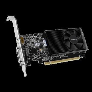 GIGABYTE nVidia GeForce GT1030 – 2048MB GDDR4, 64-Bit Memory Bus GV-N1030D4-2GL Angle