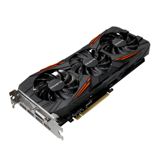 GIGABYTE nVidia GeForce GTX1070 TI GAMING – 8192MB GDDR5, 256-Bit Memory Bus GV-N107TGAMING-8GD Angle