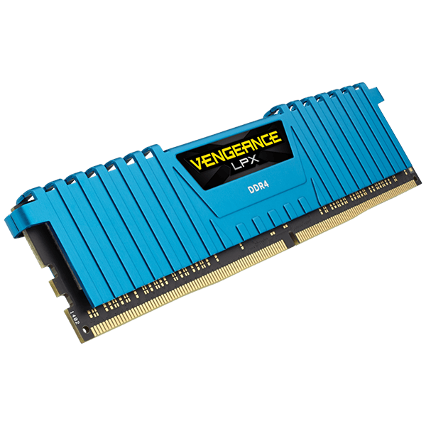 Corsair Vengeance LPX 16GB DDR4-3000MHz Kit (2x 8GB), Blue Vengeance LPX  Heatspreader