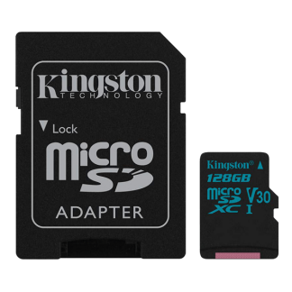 Kingston 128GB Canvas Go! microSD, Read-Write 90-45 MB-Sec, Lifetime Warranty SDCG2-128GB Top
