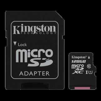 Kingston 128GB Canvas Select microSD, Read-Write 80-10 MB-Sec, Lifetime Warranty SDCS-128GB Top
