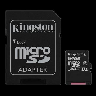Kingston 64GB Canvas Select microSD, Read-Write 80-10 MB-Sec, Lifetime Warranty SDCS-64GB Top